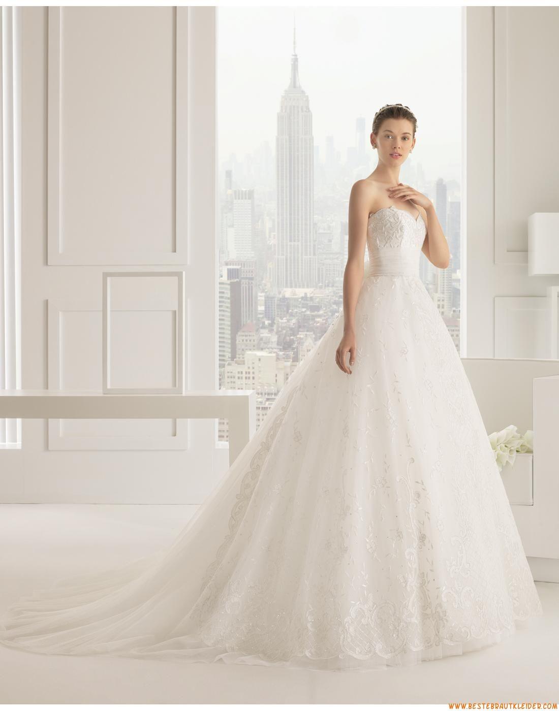 2015 Ausgefallene Glamouröse Dramatische Brautkleider aus Softnetz ...