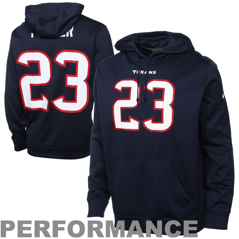 Nike Arian Foster Houston Texans Performance Player Pullover Hoodie - Navy  Blue