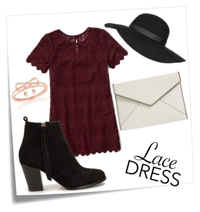 """""""casual lace dress"""" by missjennaluv ❤ liked on Polyvore featuring Post-It, Abercrombie & Fitch, Nly Shoes, La Preciosa, Topshop, Rebecca Minkoff, CasualChic, lacedress and fashionset"""