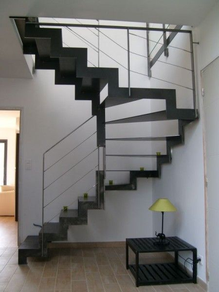 escalier cr maill re acier design stairs pinterest staircases and interiors. Black Bedroom Furniture Sets. Home Design Ideas