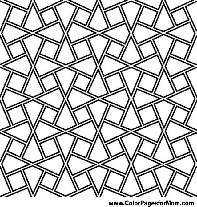 Geometric Coloring Page 85   Coloring Pages   Pinterest   Patterns ...