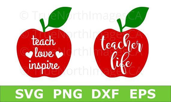 Download Teacher SVG / Apple SVG / Teacher Life SVG / Teach Love ...