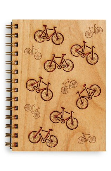 Cardtorial 'Bikes' Wood Cover Journal