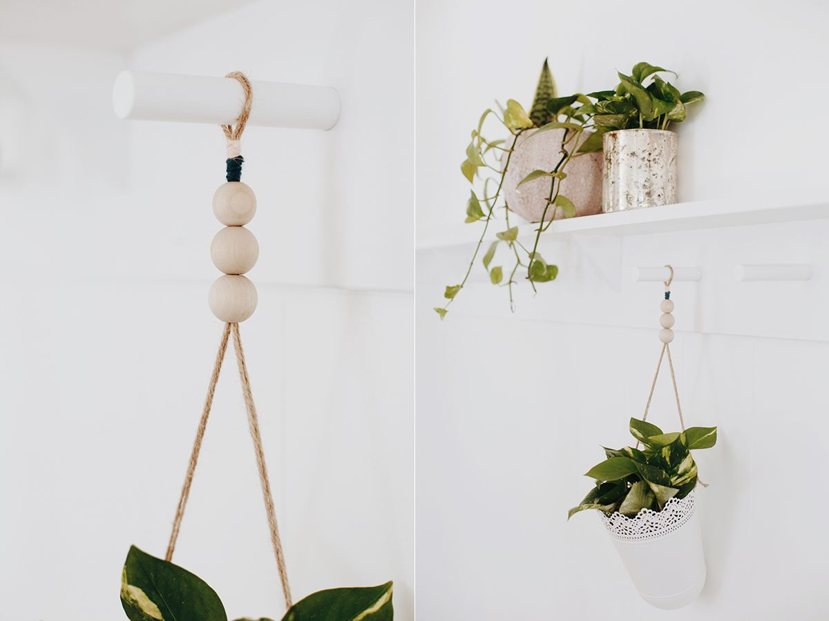 Diy Ikea Hack Hanging Plant Holder In 2020 Hanging Plant Holder Hanging Plants Diy Ikea Hacks