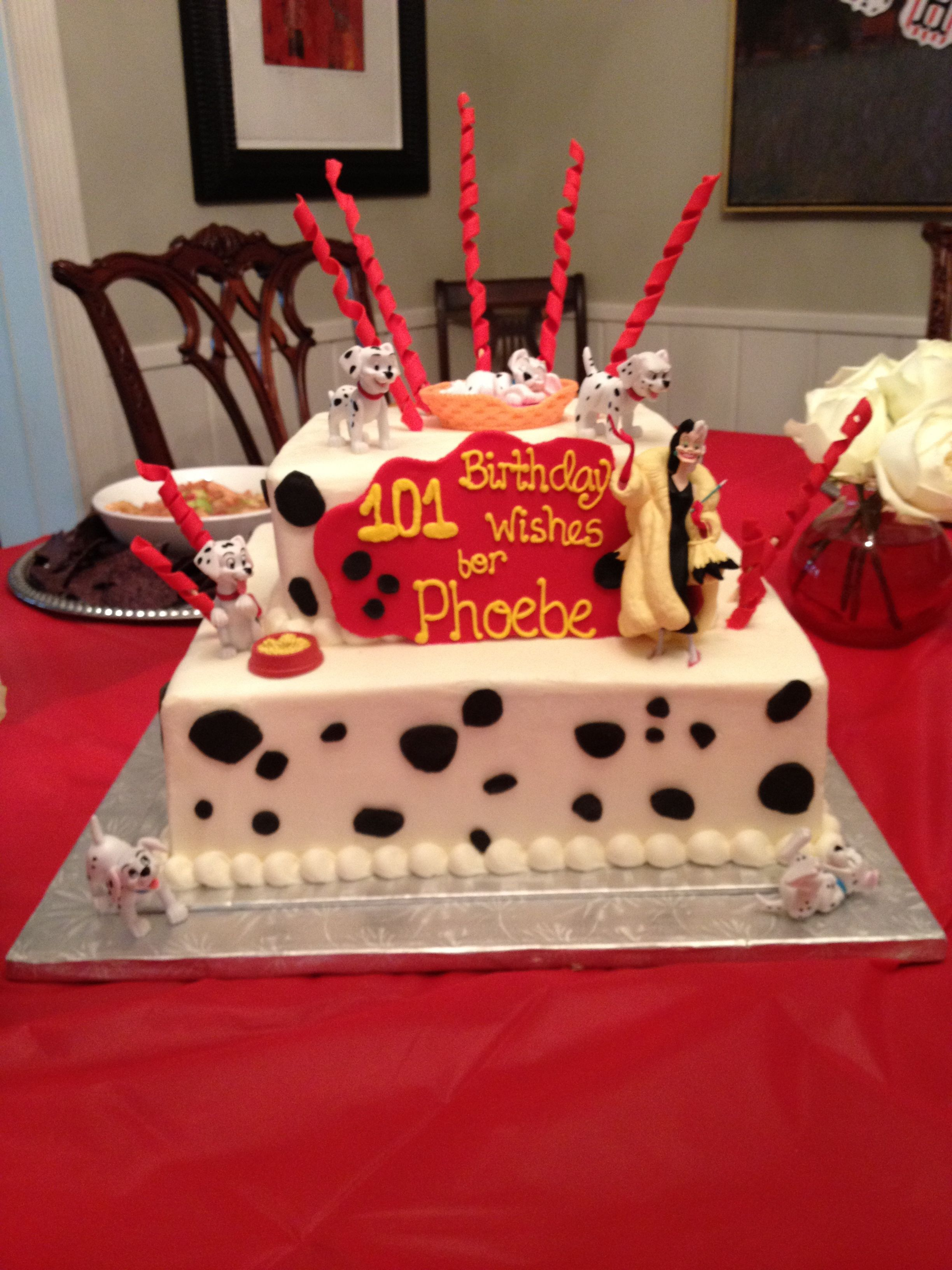 101 Dalmations Cake - #cruelladevil #cakes #houston | jodycakes ...