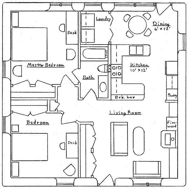 Square Earthbag Cottage