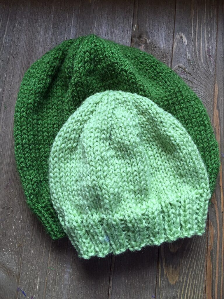 Basic Hat for Child and Adult Knit Flat Supplies needed ...