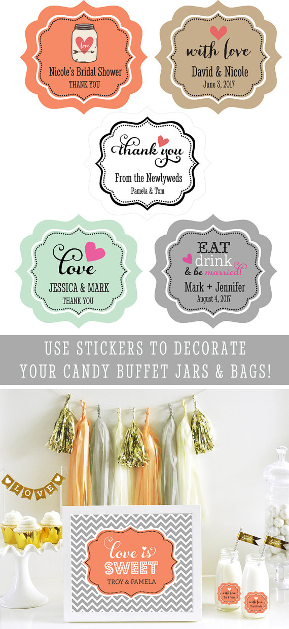 Milk bottle labels wedding mason jar labels by modparty on etsy
