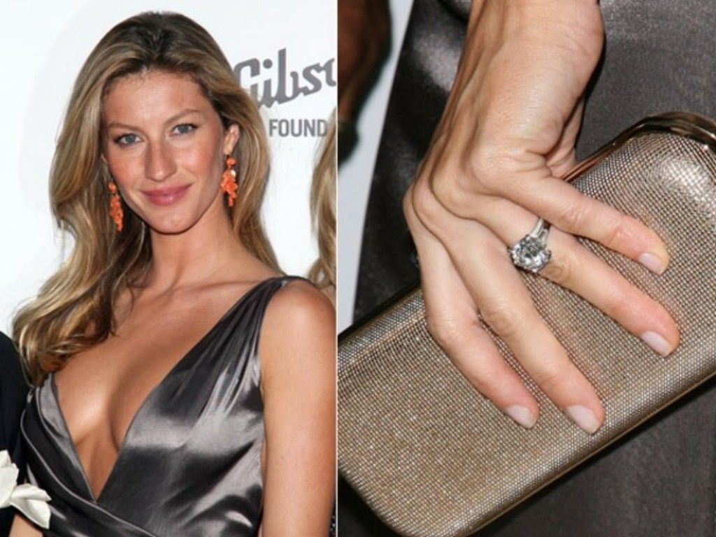 Best Celebrity Engagement Rings Of All Time Celebrity Wedding Ringscelebrity  Weddingsgisele Bundchen