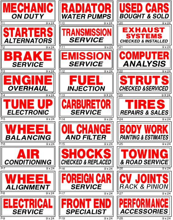 Auto Repair Shop Signs >> Automotive Signs Smog Signs Automotive Repair Signs Body Shop
