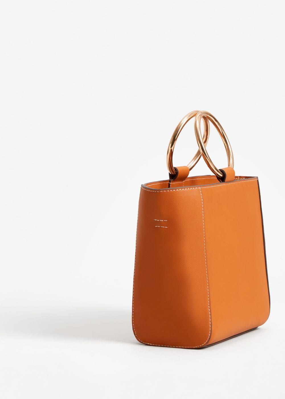 f09c66d2a163 Metallic handle tote bag - Women