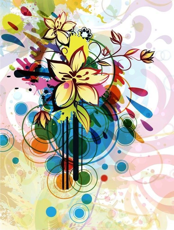 Abstract Flower Background Vector Graphic Available For Free Download At 4vector Check Out Our Collection Of More Than 180k