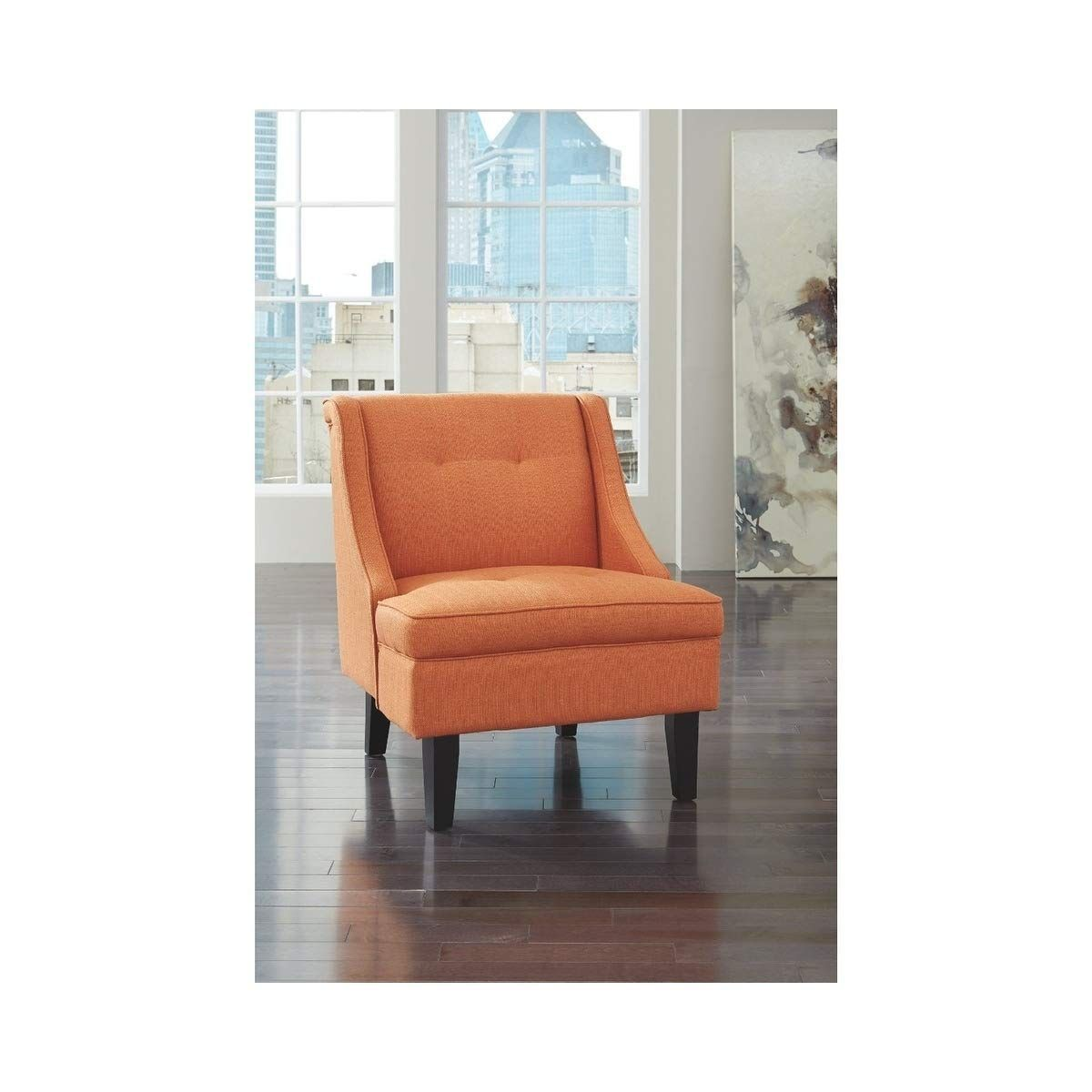 Signature Design By Ashley Accent Chair In Orange Wonderful Of You To Have Dropped By To See Ashley Furniture Living Room Accent Chairs Orange Accent Chair