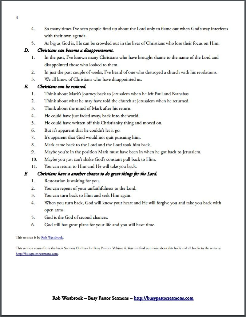 An Annotated Example of a Sermon Outline in 21  Topical sermons