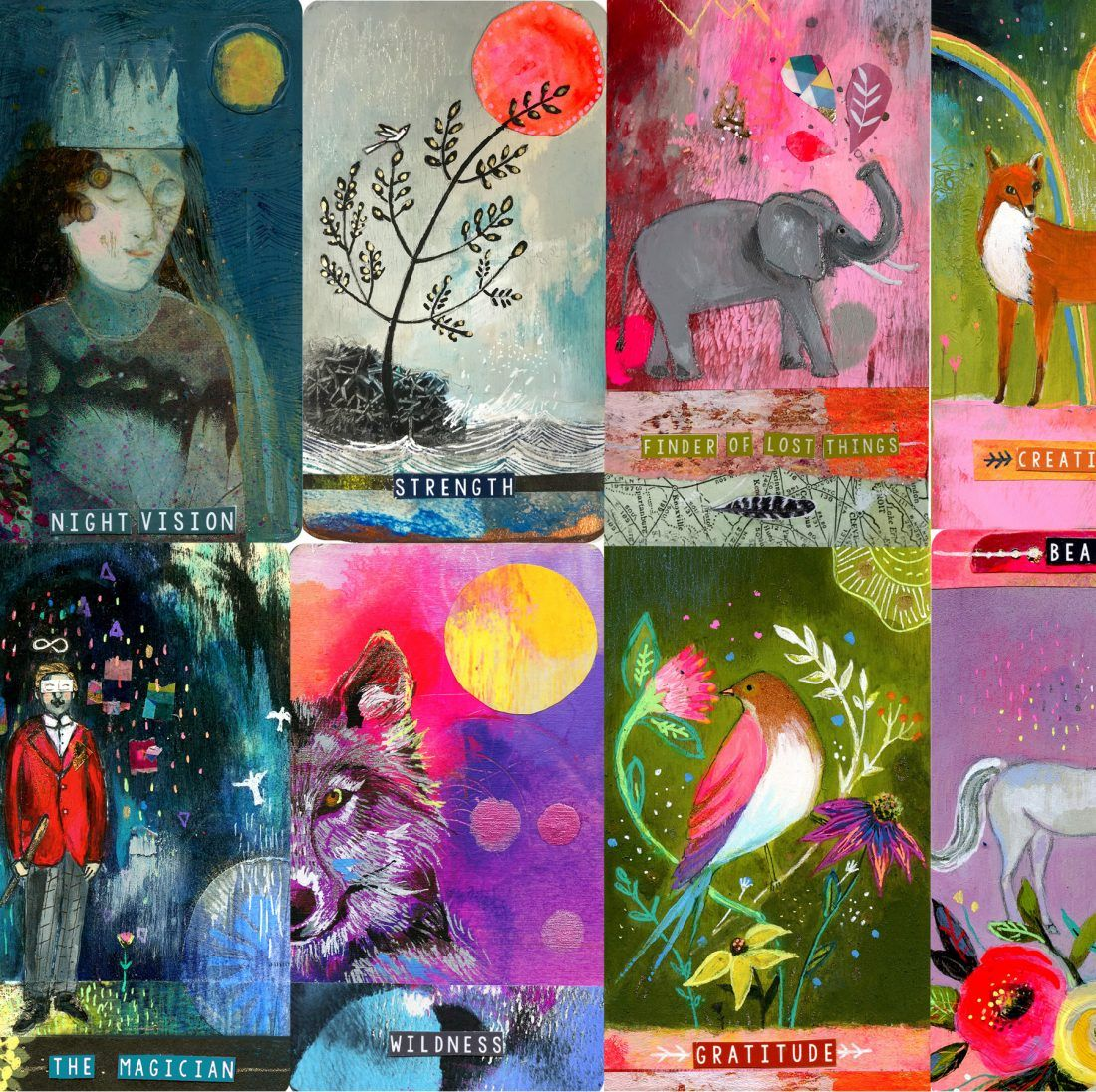 Create your own oracle deck with cathy nichols ephemera