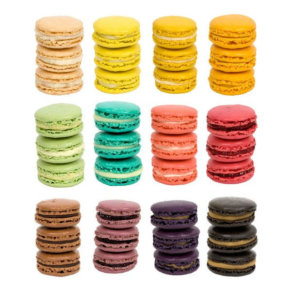 French Macaroons as Delicious Wedding Favors ($20-50) ❤ liked on Polyvore