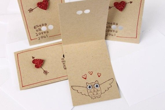 Guess who loves you card - inside