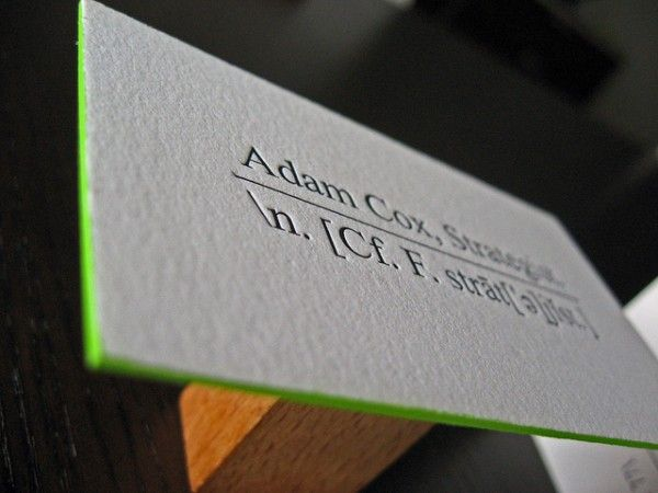 Brilliant Edge Painted Business Cards  Business Card Design