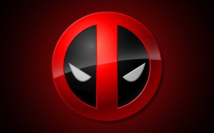 Download Wallpapers Deadpool 4k Superheros Logo Red Background