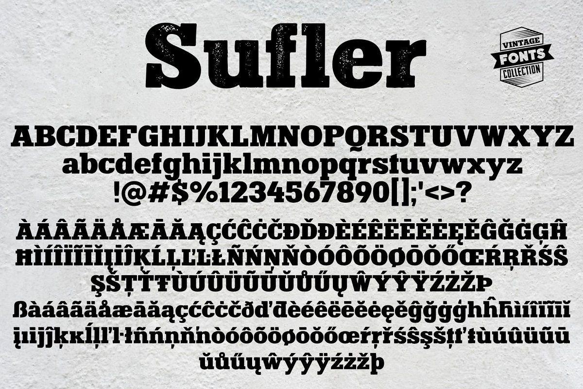 Sufler 2 Vintage Fonts Retro Sign Lettering Fonts Vintage Fonts