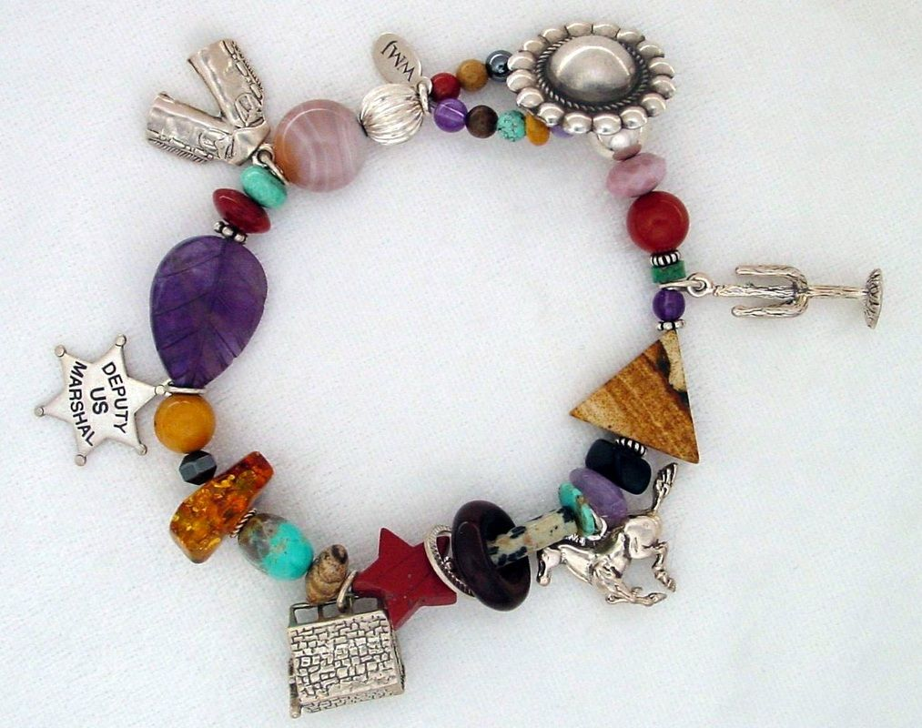 The new look of charm bracelets -- by Mary Gardner.