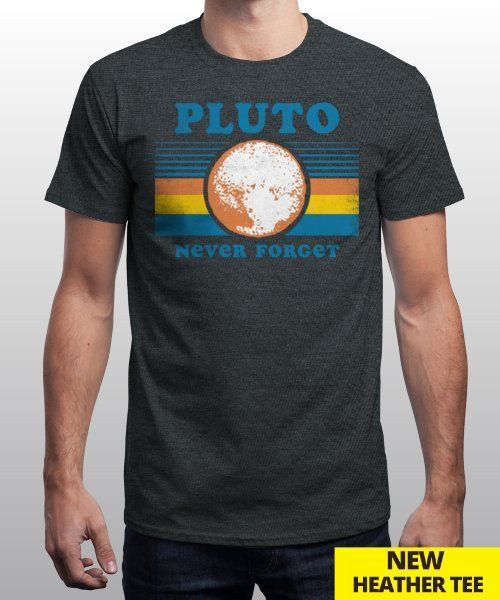 """""""Pluto Never Forget"""" is today's £9/€11/$12 tee for 24 hours only on Pin this… 