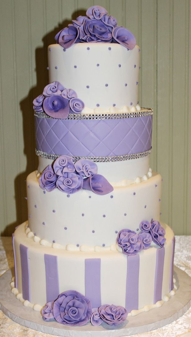 Purple Themed Wedding Cakes From Andrea Howard Cakes Edmond Ok