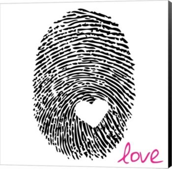 Love Thumbprint By Louise Carey Canvas Art - Multi