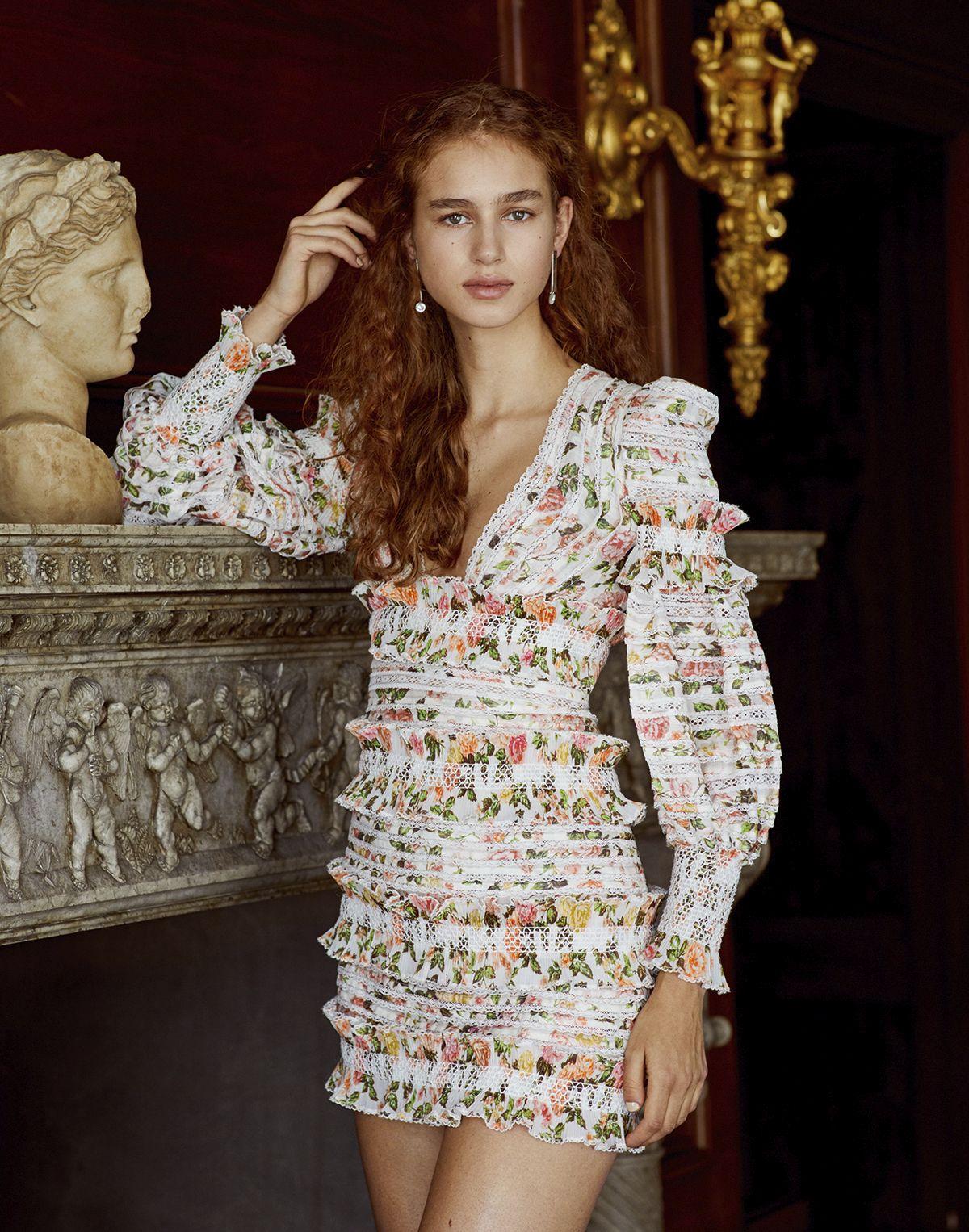 22e71f2864 Zimmerman Billows Embellished Floral Linen-Silk Minidress