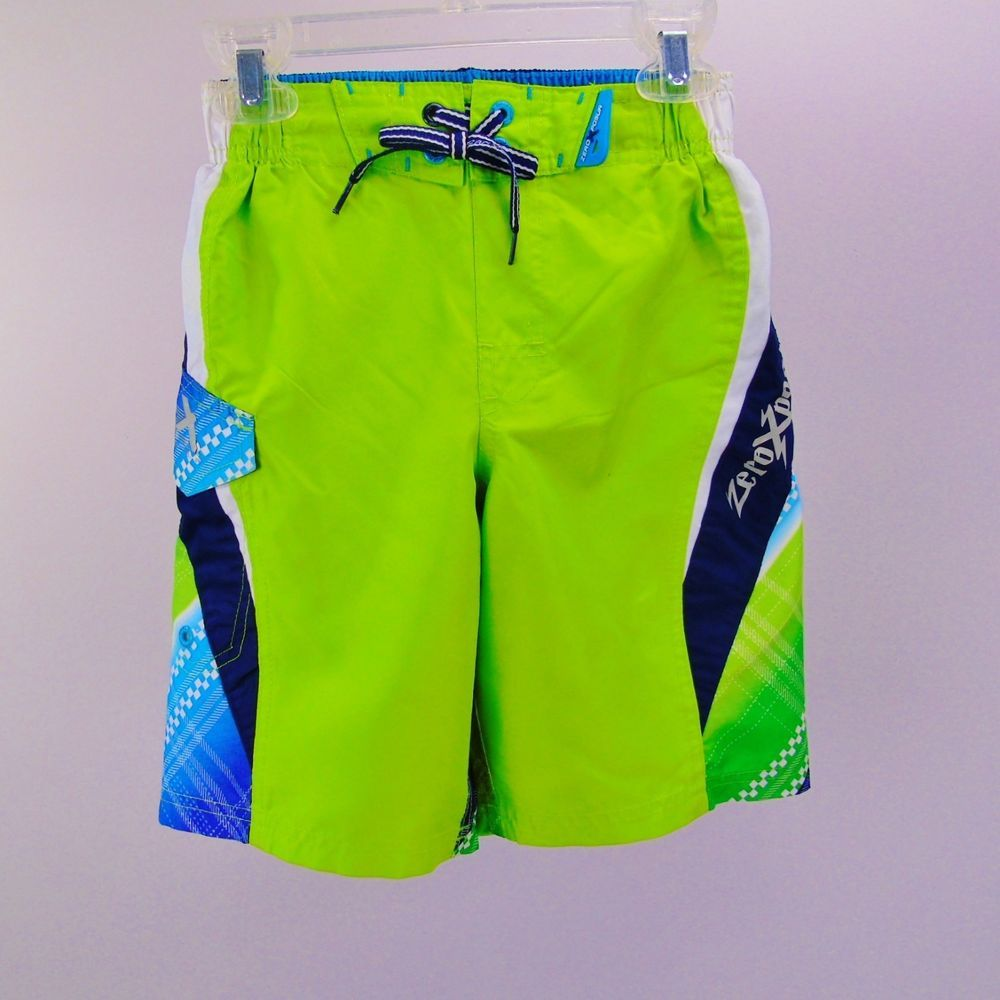 6abccbac93ccb Boy's Board Shorts ZeroXposur Swim Trunks Size 4T Green Blue White  Geometric #zeroxposur #SwimBottoms