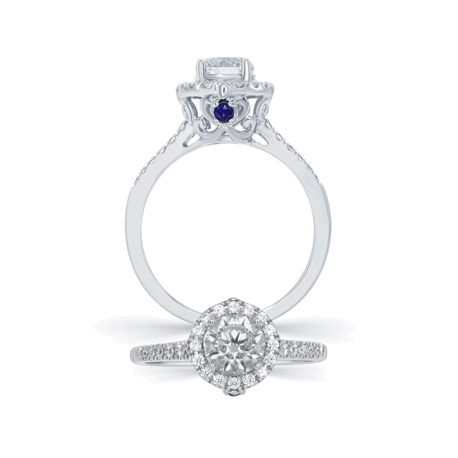 product disney enchanted rings centres ring diamond carriage engagement charm cinderella