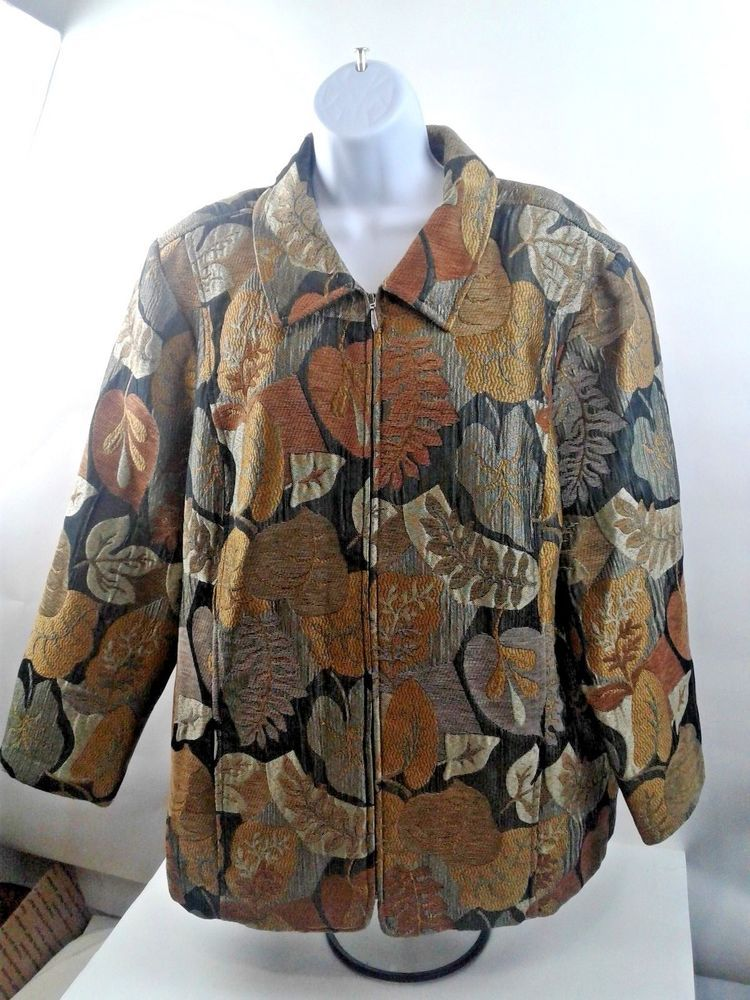 9a36f304bc73a CJ Banks Full Zip Womens Heavy Autumn Colors Jacket Size 3X - Beautiful   fashion