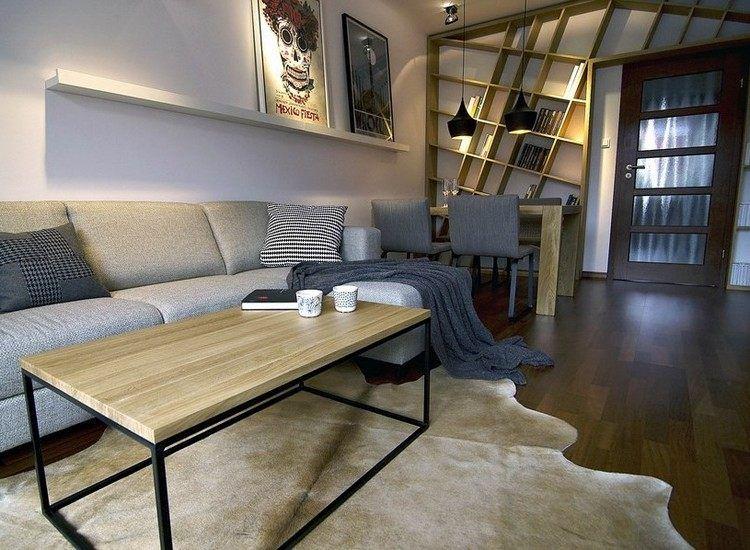 Modernes Wohnzimmer mit dunklem Sofa einrichten: 55 Ideen | Home ...