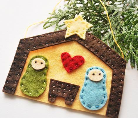 Adornos de Navidad de fieltro NAVIDAD Pinterest Adornos de