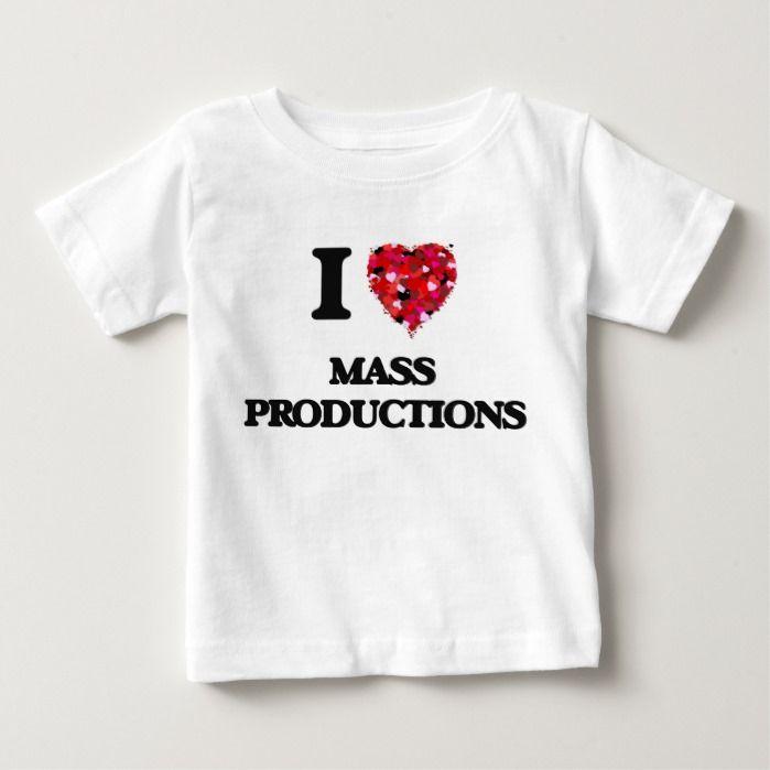 I Love Mass Productions T Shirt, Hoodie Sweatshirt