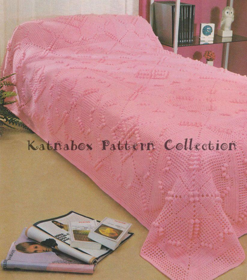 Quadro Crochê-de-Rosa Filé Clássica -  /     Vintage Crochet Pink Filet Box -