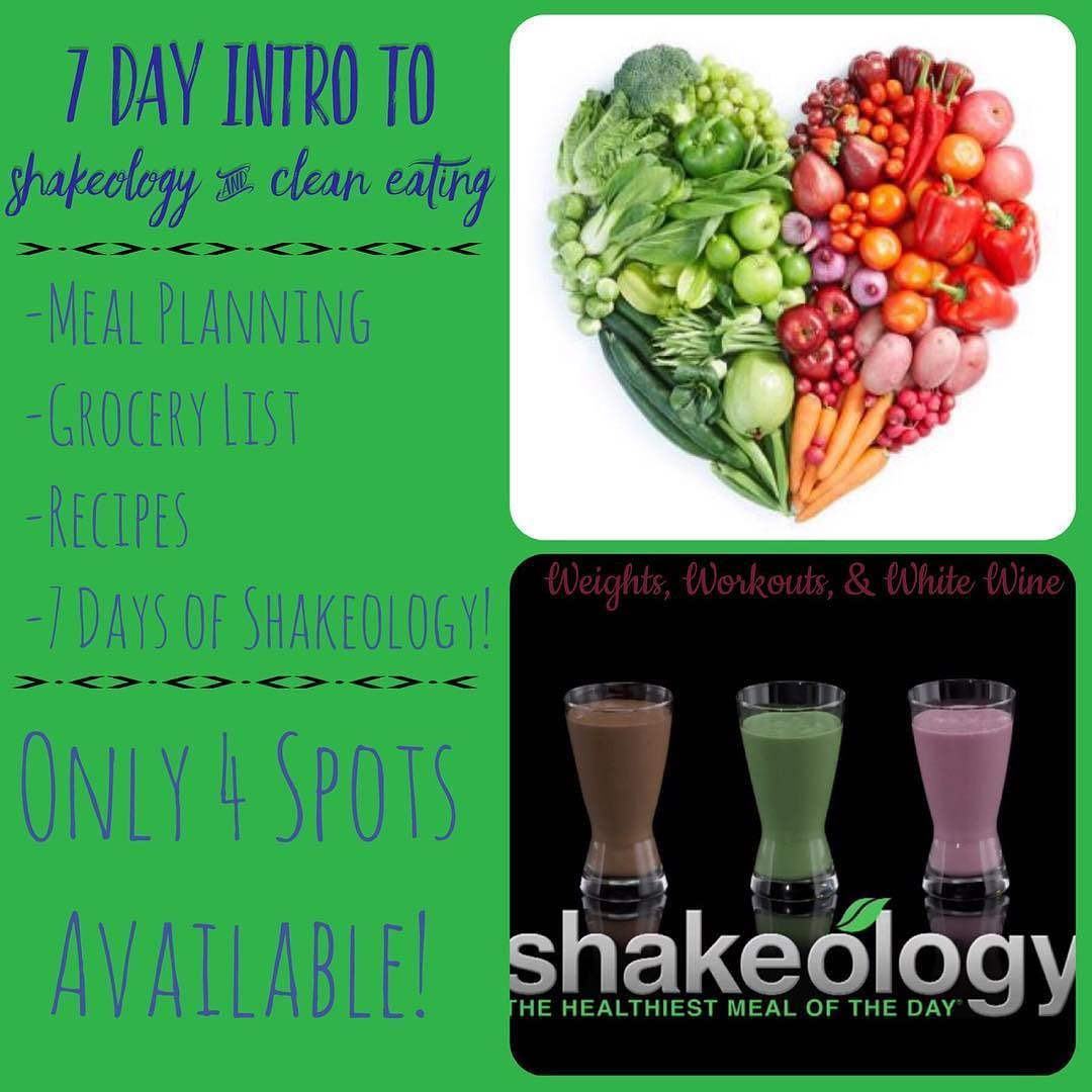 If I would do a 7 day clean eating and Shakeology group who would be interested?? I'd only have 4 spots available (that's the amount of ShakeO I have!) and start date would depend on how quickly these spots fill up. ... You'd get a ton of information on portion control how to meal prep for all 3 meals of the day snacks grocery list recipes and of course 7 days of Shakeology! ... The cost would be $35. This group would be perfect for any one who's wanted to try Shakeology and/or wants to…