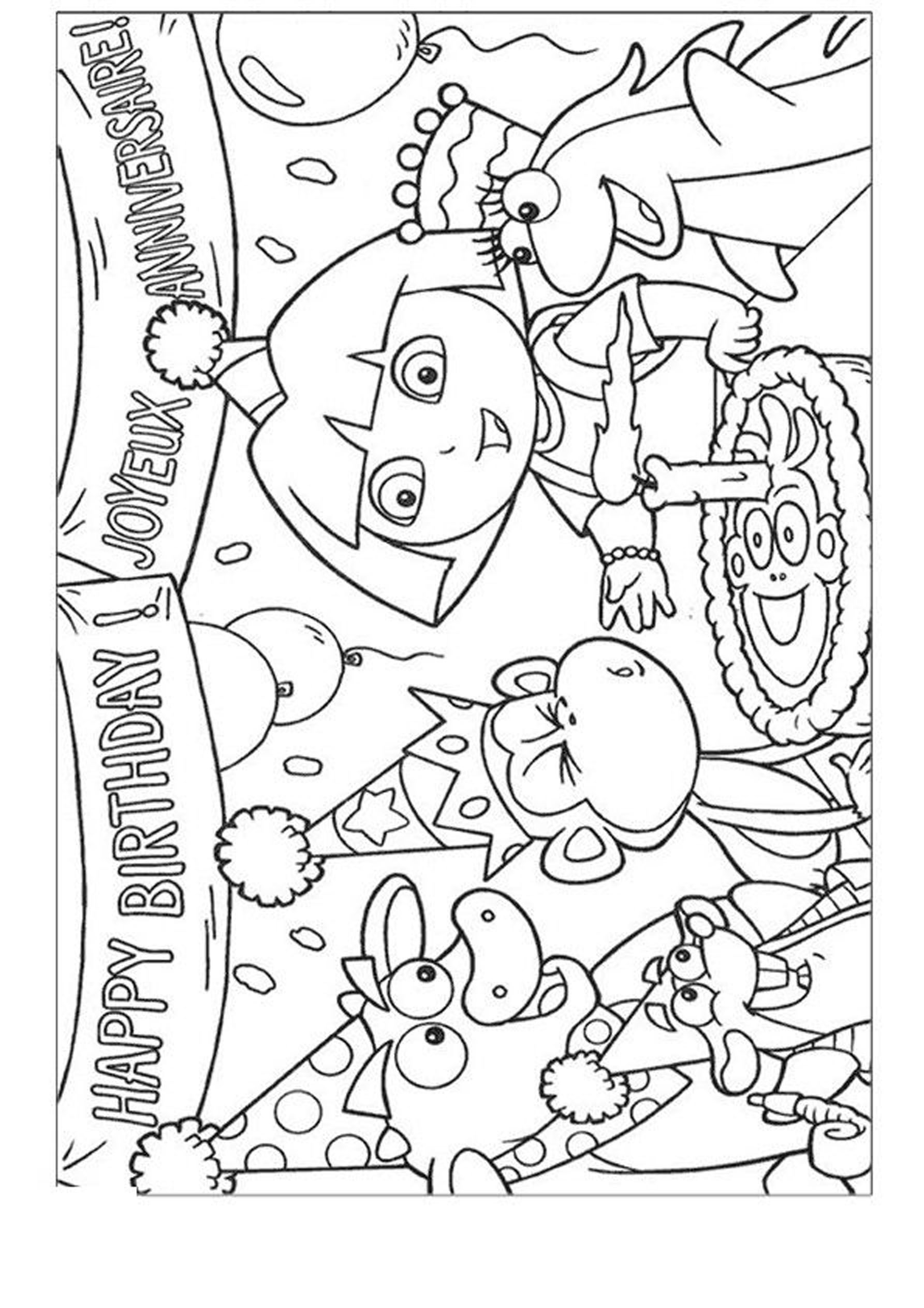 Dora The Explorer Birthday Coloring Pages Coloring Pages Of Happy Birthday Hello Kitty Colouring Pages Birthday Coloring Pages Happy Birthday Coloring Pages