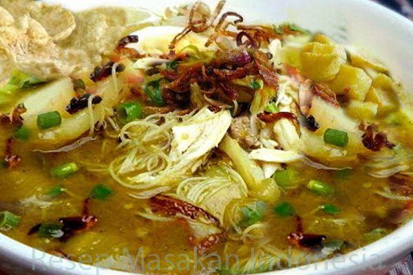 Resep Masakan Soto Ayam Santan Dan Cara Membuatnya Resep Masakan Masakan Resep Masakan Indonesia