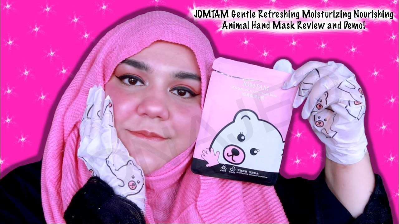 Jomtam Gentle Refreshing Moisturizing Nourishing Animal Hand Mask Review Hand Mask Exfoliate Dead Skin Cells Makeup Skin Care