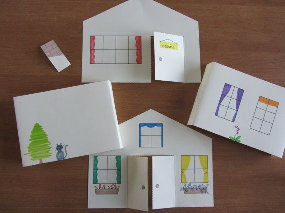 3d Paper House Craft For Kids Instant Download Template Etsy In