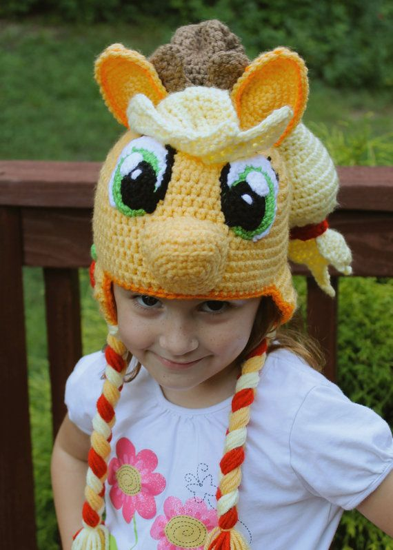 71e201074fc My Little Pony Costume Applejack Crochet Hat by TOPstitchesCrochet
