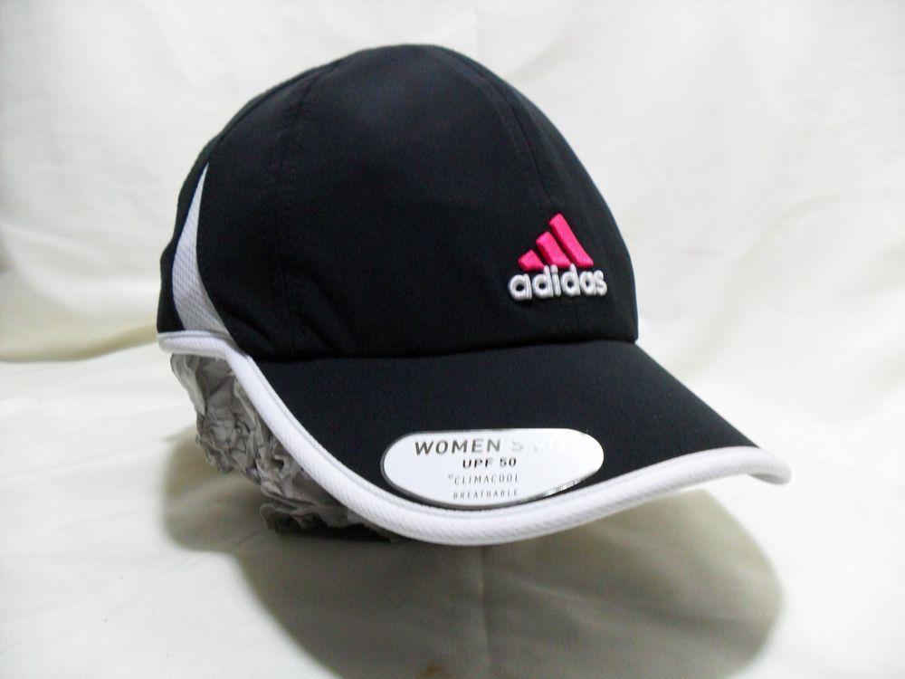 Adidas Adizero Climacool Cap UPF50 Adjustable Women Hat Black pink  EmbroderedNew  adidas 4a4e87407a3f
