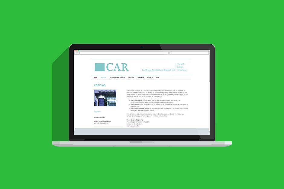 Cambridge Architectural Research Website Web Design Web Design Projects Design Agency