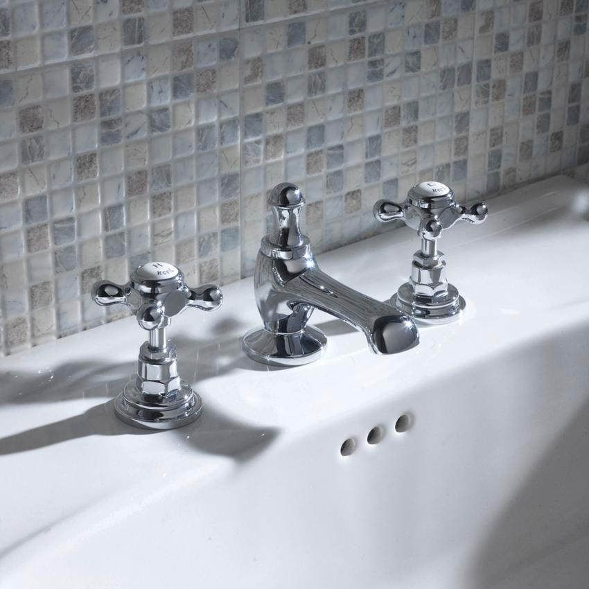 Hudson Reed Topaz 3 Tap Hole Basin Mixer Tap With Pop Up Waste Bc307hx Mold In Bathroom Hudson Reed Basin Mixer