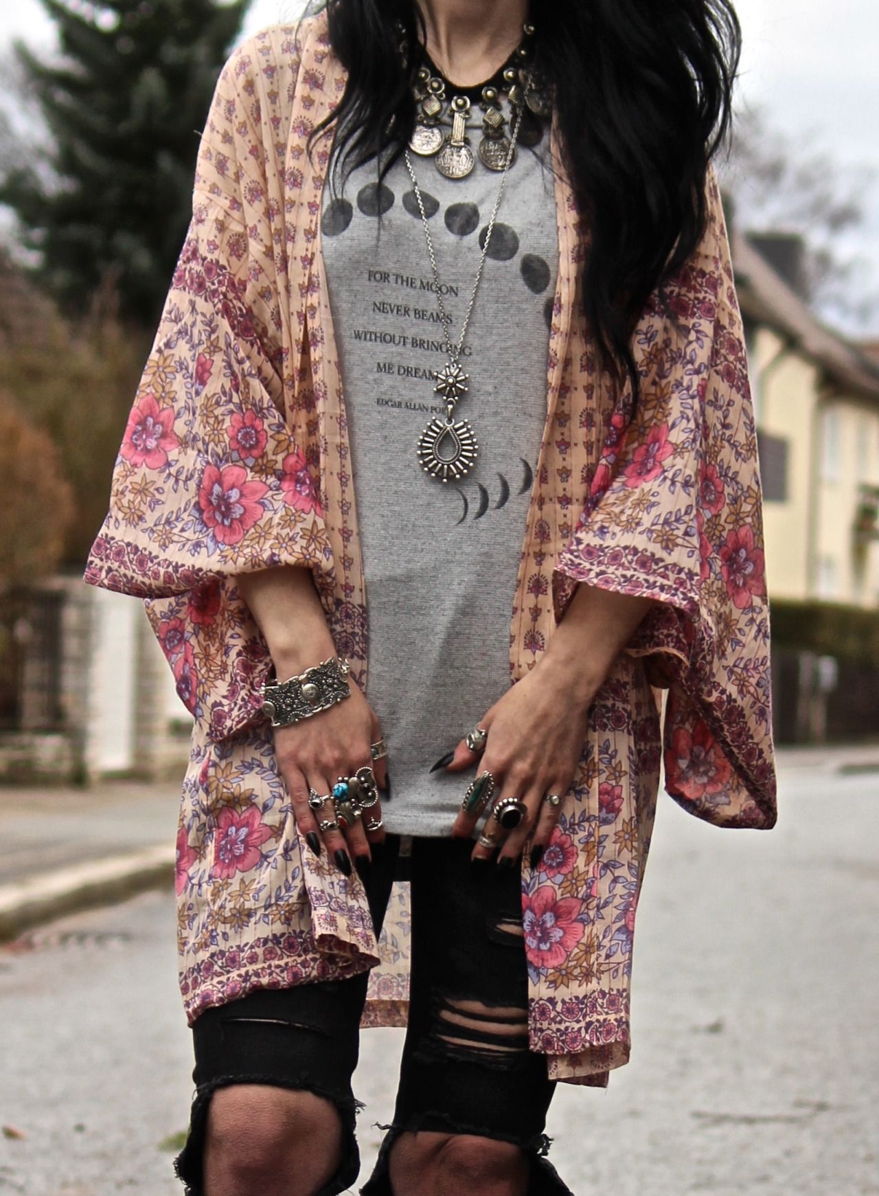 070736cb15f84b Tessa Diamondly - Spell Desert Rose Kimono