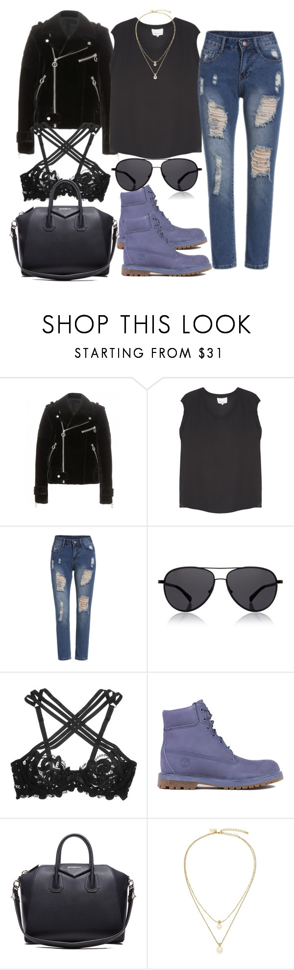 """Untitled #2960"" by dkfashion-658 ❤ liked on Polyvore featuring 3.1 Phillip Lim, The Row, Agent Provocateur, Timberland, Givenchy and Kate Spade"
