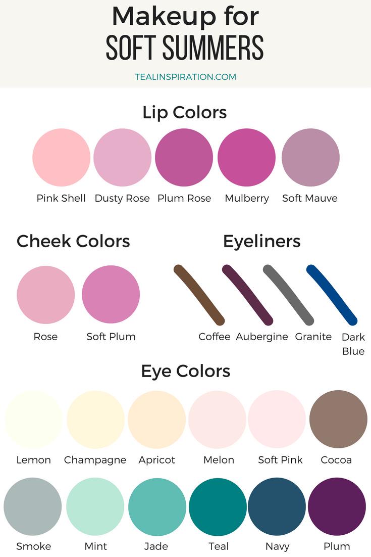 Soft Summer Makeup Colors