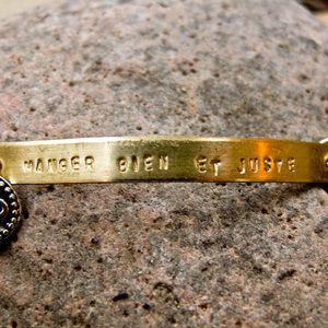 Manger Bien Stamp Bracelet, featured on Fab.