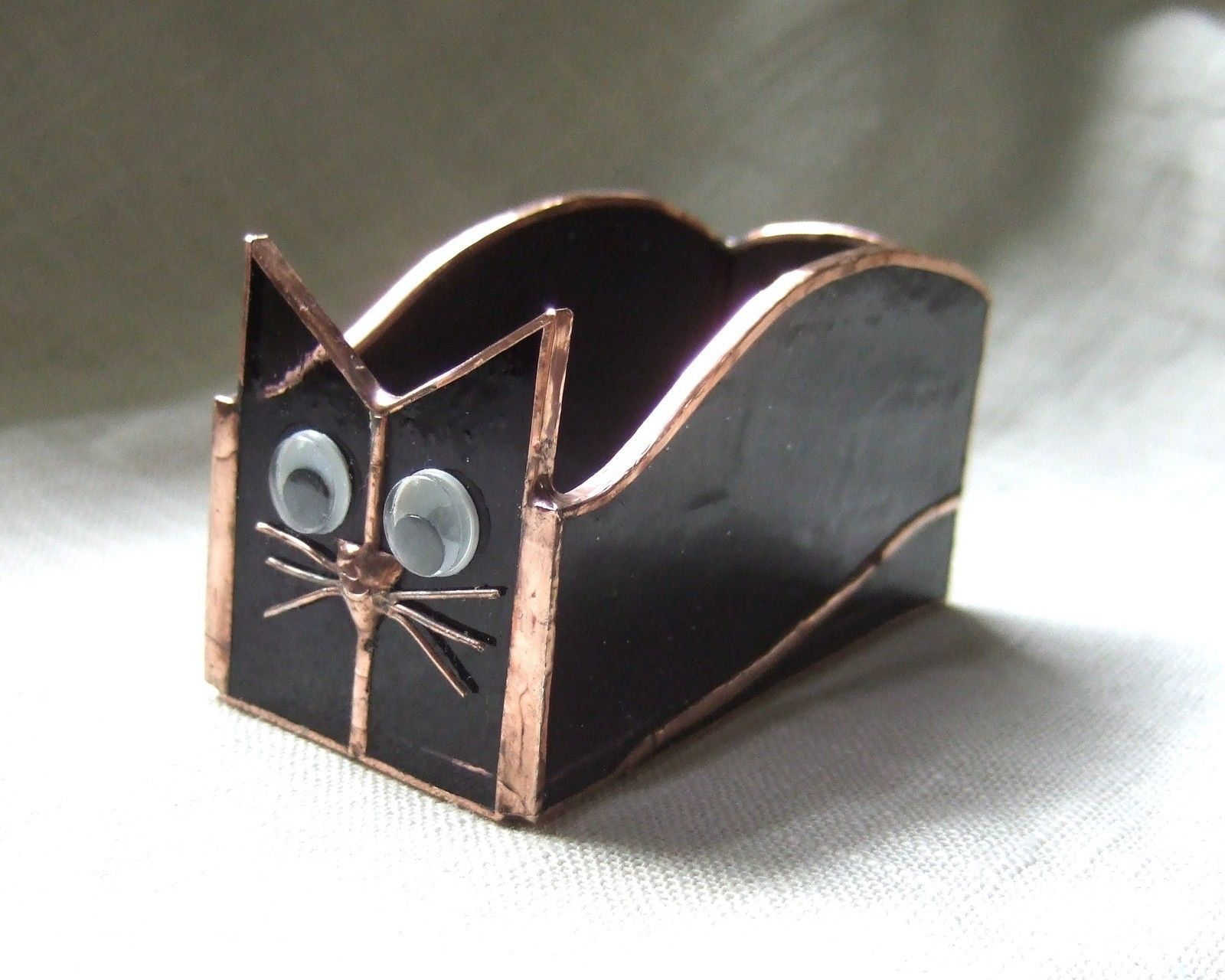 Handmade Stained Glass BOX (Business Card Holder) CAT (BXC30 ...